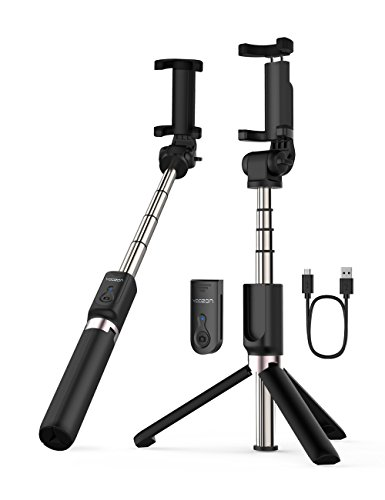 Micro USB Cable AnYoozon Selfie Stick Bluetooth, Extendable Selfie Stick with Wireless Remote and Tripod Stand Selfie Stick for iPhone X /iPhone 8 /8 Plus/iPhone 7/iPhone 7 Plus/Galaxy Note 8/S8 /S8 Plus/Google Moredroid