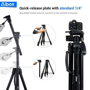 60ca40dced8 Albott 70 Inch Digital SLR Camera Aluminum Travel Portable Tripod Monopod  with Carry Bag